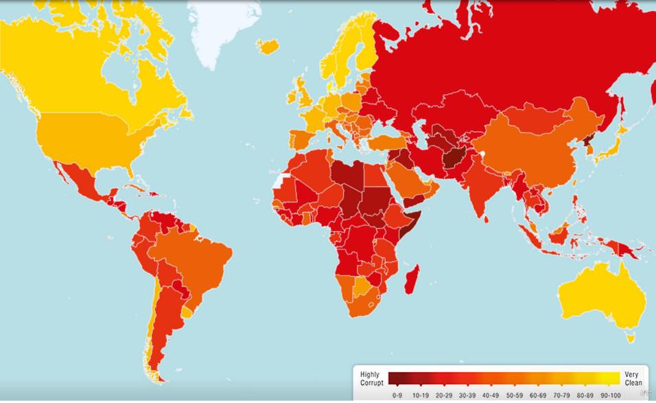 Países más corruptos del mundo 2013